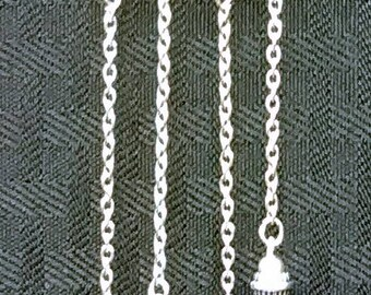 Silver Chain and Purple Pearl Necklace