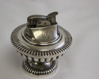 "Sterling Silver Table Lighter ""Victoria"" Evans & Hallmark 1949 - OTH10163"