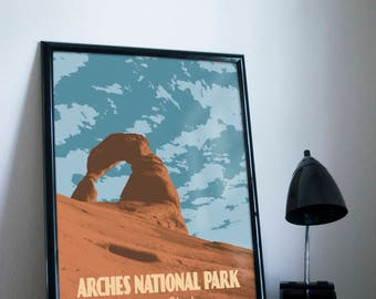 Arches National Park Poster 11x17 18x24 24x36