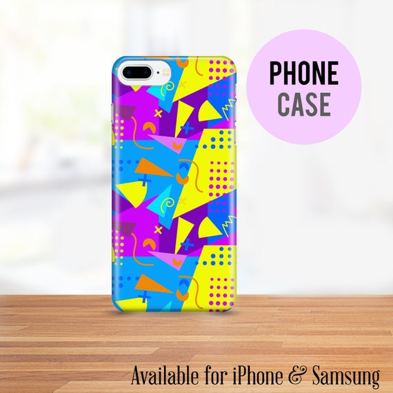 80's Cell Phone Case - Available for iPhone and Samsung - Bright Colors