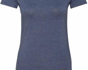 Ladies Shirt US Army Bottom Print Longer Length Tee T-Shirt 21439E9-BP-6004