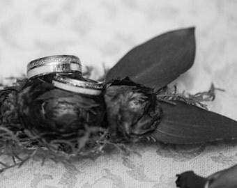 Tungsten Ring Tungsten Wedding Ring Band Meteorite Deer Antler Ring Men Women Wedding Band Promise Anniversary Dome 6mm Matching Ring Set