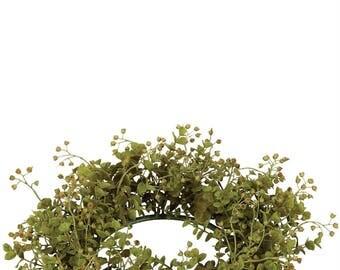 "Eucalyptus Candle Ring, 6.5"" Opening"
