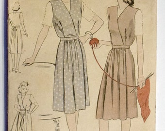Vogue 1940s Maternity Jumper Dress Sewing Pattern Size 14 Bust 32