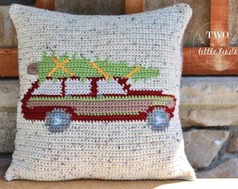 Crochet Pattern, christmas crochet pattern, crochet throw pillow, christmas pillow, crochet pillow, crochet pillow cover, SUTTON PILLOW