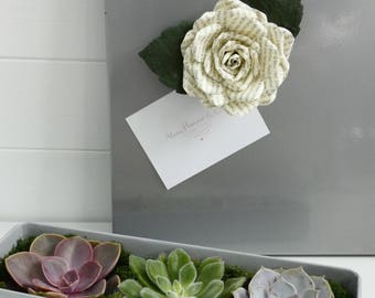Magnet - Message Rose Magnet - choice of colour - Gift Idea, Wedding Favour, Unique, Unusual, Quirky, Christmas Gift Idea