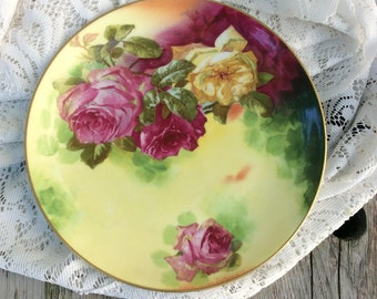 Vintage Limoges Coronet Roses Plate