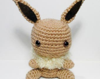 Eevee Amigurumi - Chibi Eevee Crochet Plush