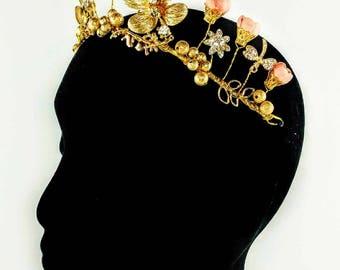 Gold & Pink Statement Headband