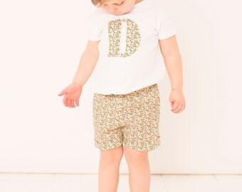 GWEN Handmade Liberty of London Print Girls Shorts with paper bag waist and cuffed legs