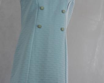 Pale Blue 1960s Shift Dress