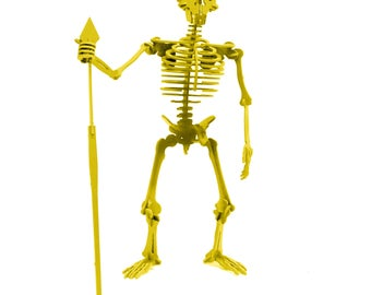 3D Puzzle, Skeleton Toy, 3D Human Skeleton Puzzle, Recyclable PVC Neanderthal Puzzle Toy YELLOW, Eco-Friendly, Skeleton Toy, Human Body Toy