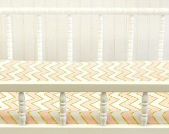 Changing Pad Cover | Gold Rush in Pink