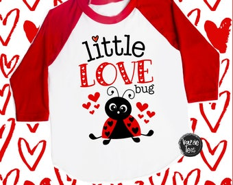 Little Love Bug - Love Bug Valentine Shirts - Cute Valentine Shirts - Ladybug Shirts - Unisex Kids' Shirts - Kids' Valentine Shirts
