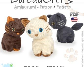 Cat - Amigurumi Crochet Pattern - PDF American Terminology