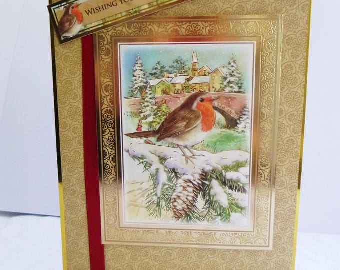 Robin Christmas Greeting Card, Red Robin, Festive Card, Any Age, Male or Female, Mother, Father, Brother, Sister, Son, Daughter