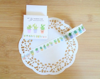 Planner Accessories: Cactus Washi Tape - for Planners & Scrapbooks!