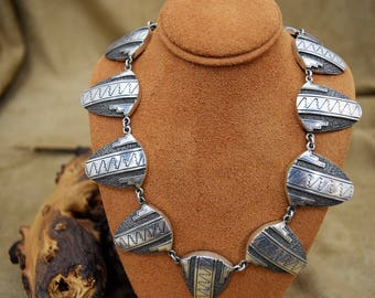 Southwestern Design Sterling Silver Necklace