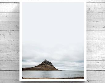 Kirkjufell, Iceland, Wanderlust, Travel Photography Print. Scandinavian, nature, adventure, landscape, color photo downloadable wall art.