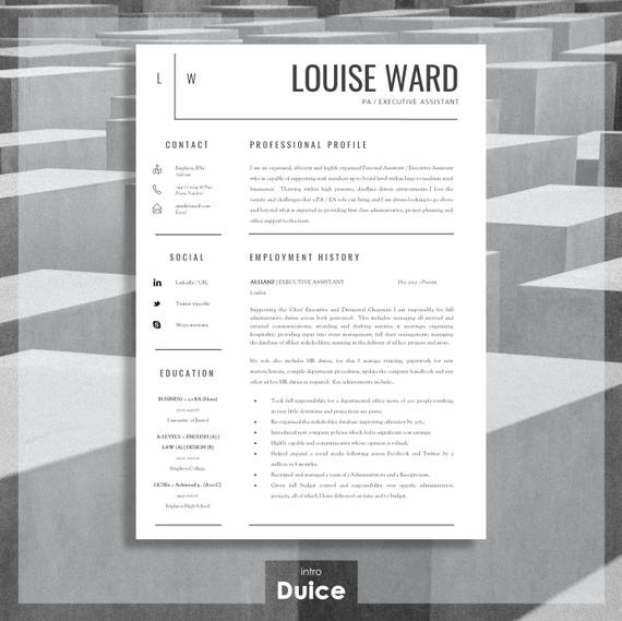 Resume Template Cv Template Cover Letter Resume Advice