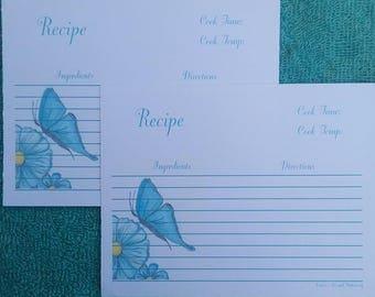 Recipe cards baking recipe cards elephant baby food recipe baking recipe cards recipe cards flower and butterfly recipe card flower and butterfly forumfinder Gallery