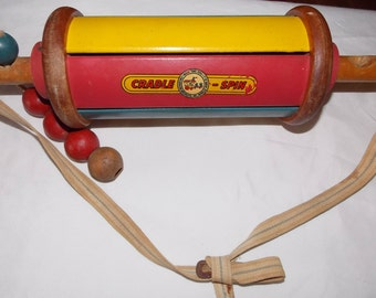 Crib rattle CRADLE SPIN toy vintage 1938