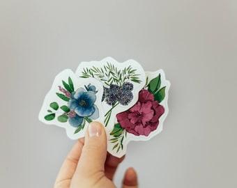 Watercolor Flower Sticker Pack