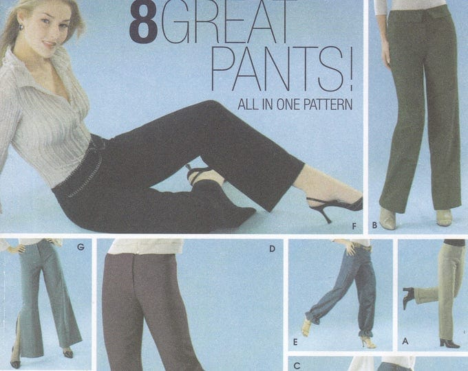 FREE US SHIP Simplicity 5350 Sewing Pattern 8 Great Pants Gauchos Bell Bottoms Straight Leg Size 4 6 8 10 Uncut Out of Print