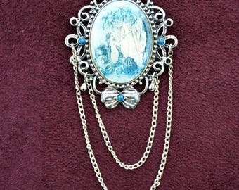 "Brooch cameo ""Little Mermaid and sea witch"""