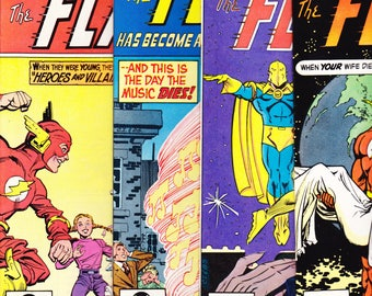 The Flash Superhero comic lot, 1981 books, Jay Garrick, Dr Fate, Birthday Party Gift, Barry Allen. 305 306 307 308 DC Comics in NM (9.4)
