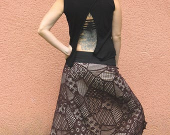 Bohemian Skirt - Lace Coton - Gypsy - Rasta - Hippie - Tribal Fusion - Ethnic - Summer - New collection