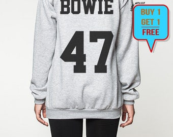 David Bowie sweatshirt shirt men women bowie 47 sweater shirts tshirt jumper long sleeve tshirt tee shirt