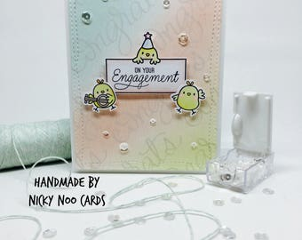 Handmade Engagement Card - Congratulations on your Engagement