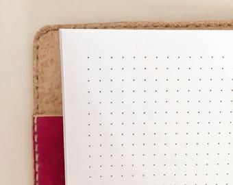 "Dot Grid Traveler's Notebook Printable, REGULAR WIDE Cahier Size, 13 x 21 cm (5 x 8.2"") Digital, Planner Printable, Planner Insert, TN"
