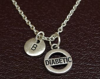 Diabetic Necklace, Diabetic Jewelry, Diabetic Charm, Diabetic Pendant, Diabetes Necklace, Diabetes Charm, Diabetes Pendant, Type 1 Diabetes