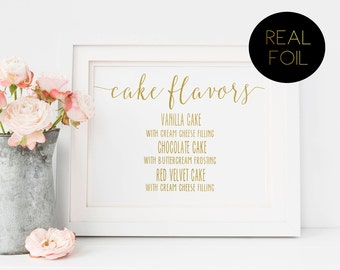wedding cake flavour sign flavor sign etsy 22662