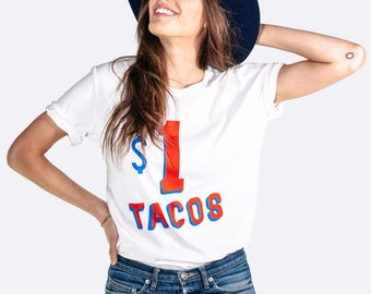 Taco Shirt Women and Mens Sizes, Fun for Taco Tuesday Party 100% Organic Cotton Tee