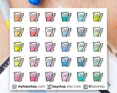 30 Pencil & Books Doodles | Mini Icons | Hand Drawn Sticker Planner