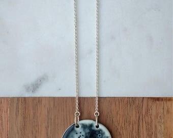 Luna Necklace - Porcelain and sterling silver