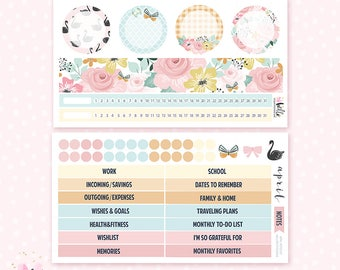 April Notes Page Kit - 2 sheets / for the Erin Condren planner notes pages