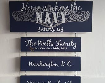 Home is where the Navy sends us/you/me, Submarine Dolphins, Navy Submariner, Got dolphins?, Patriotic Wall Décor