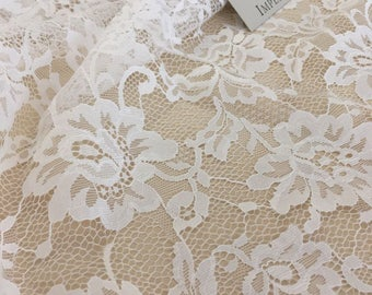 Off white lace fabric, chantilly lace fabric, white lace fabric  B00195
