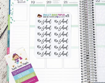 No School Planner Stickers | Word Art Planner Stickers | Lettering Planner Stickers | School Planner Stickers | Fits Most Planners | 351