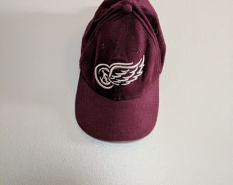 Rare Vintage NHL Detroit Red Wings New Era Baseball Cap One Size Fits All
