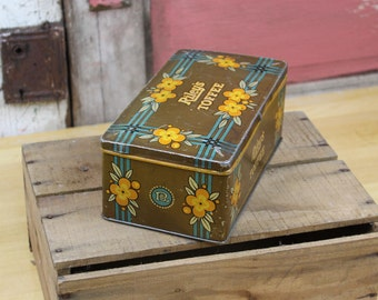 vtg RILEY's TOFFEE candy tin