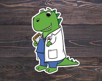 Doctor Sticker, Medical Stickers, Future Doctor Decal, Doctor Laptop Stickers, Cute Doctor Gifts, Medical Student Gift, Veterinarian Decal