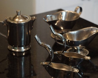 5 Pieces of Stainless Steel Restaurant Ware