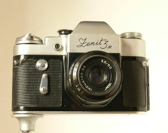 ZENIT - 3m Vintage Russian 35mm Camera With Helios 58mm Lens - 1960s - Retro