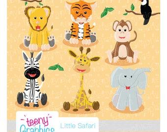 Little Safari Clip Art,Small Commercial use,Jungle animals,Safari,Digital Clipart,Vector,Download, Scrap Booking- clip01