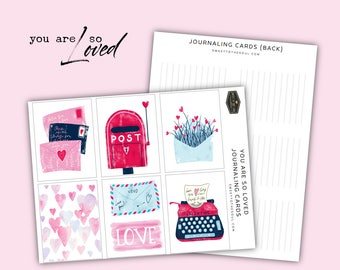 "Soul Inspired - ""You Are So Loved"" Journaling Cards Printable - digital download"